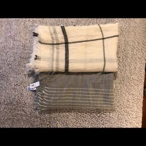 Two Blanket Scarves